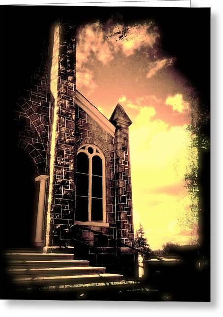 Maggie Vlazny Greeting Cards - Church Vignette against Sky Greeting Card by Maggie Vlazny