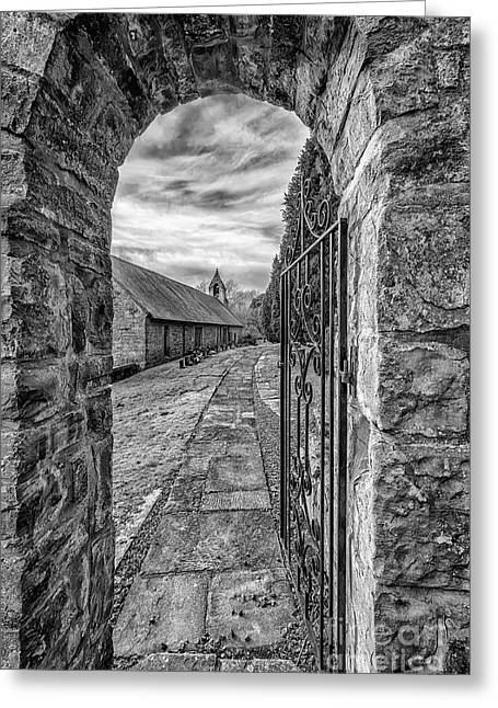 Black And White Hdr Greeting Cards - Church Way v2 Greeting Card by Adrian Evans