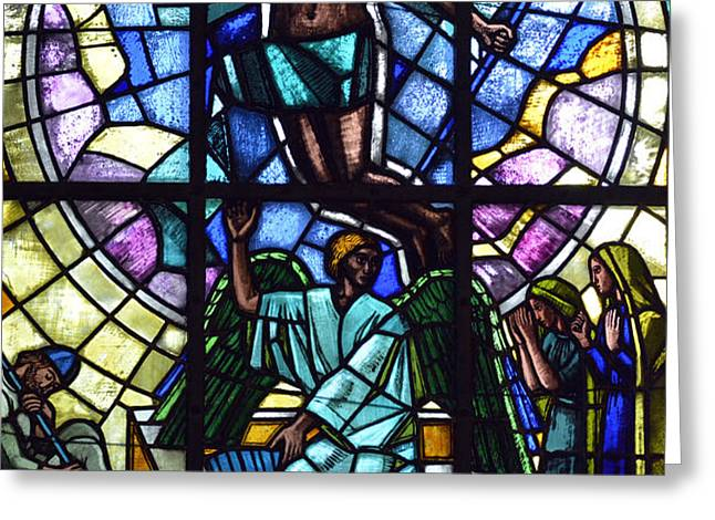 Church window Greeting Card by Toppart Sweden