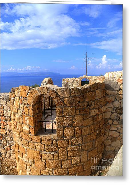 Greek Sculpture Greeting Cards - Church with a view Greeting Card by Gillian Singleton