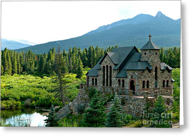 Ecclesiastics Greeting Cards - Church with a view Greeting Card by Rachel Gagne