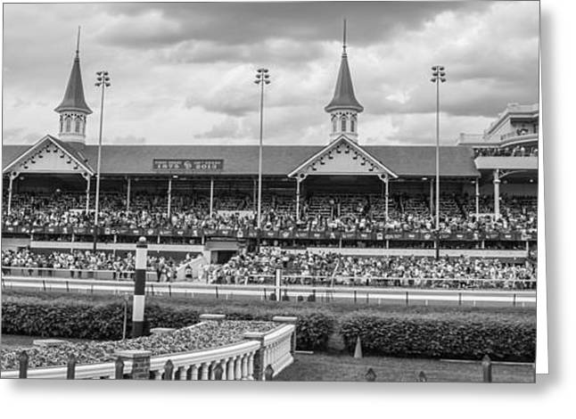 The Horse Greeting Cards - Churchill Downs and Twin Spires  Greeting Card by John McGraw