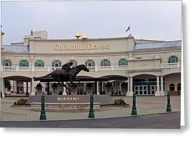 Race Horse Greeting Cards - Churchill Downs Greeting Card by Kevin Jackson