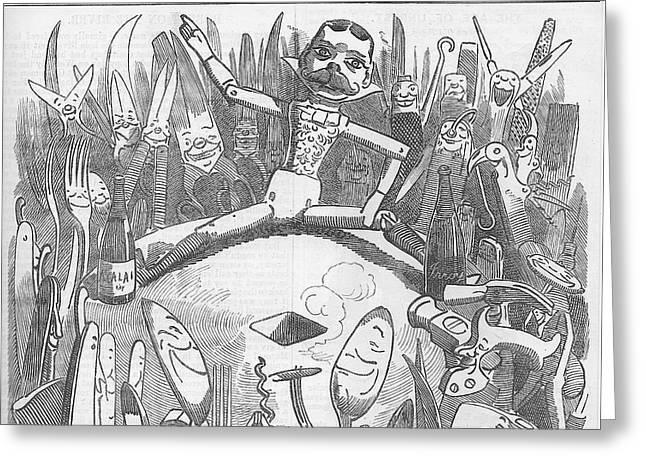 Churchill Lecturing Cartoon Greeting Card by Konni Jensen