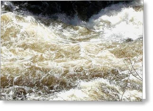 Purchase Greeting Cards - Churning River Water Currents Greeting Card by Gail Matthews