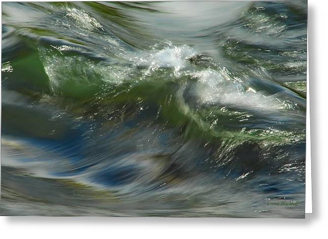 Art For The Home Greeting Cards - Churning Waters Greeting Card by Donna Blackhall
