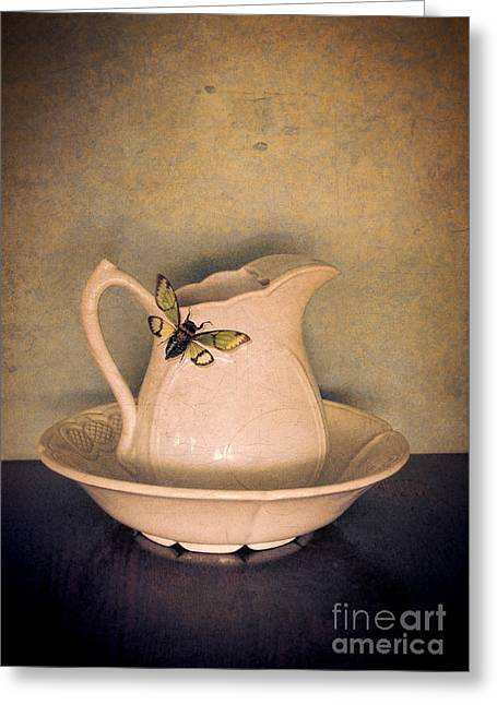 Cicada Greeting Cards - Cicada on Pitcher Greeting Card by Jill Battaglia