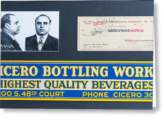 Batter Paintings Greeting Cards - Cicero Bottling Works Chicago Brewing Greeting Card by Kurt Olson