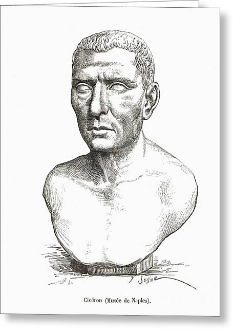 Orator Greeting Cards - Cicero, Roman Philosopher Greeting Card by Middle Temple Library
