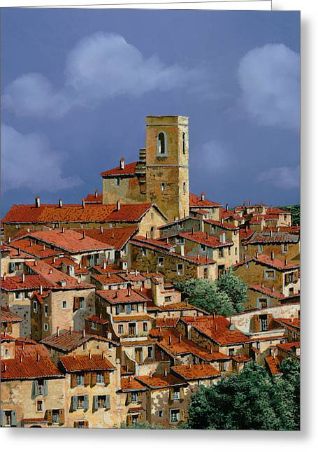 Vence Greeting Cards - Cielo A Pecorelle Greeting Card by Guido Borelli