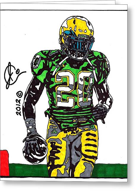 Player Drawings Greeting Cards - Cierre Wood Greeting Card by Jeremiah Colley