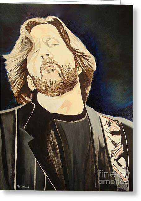 Clapton Is God Greeting Cards - Cig Greeting Card by Stuart Engel
