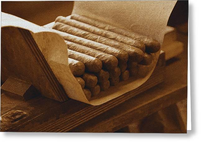 Cigar Digital Greeting Cards - CigarA Greeting Card by David Lee Thompson