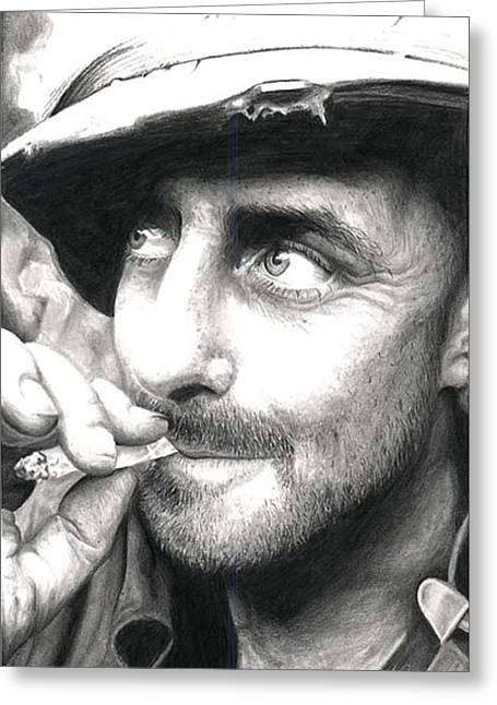 Gi Drawings Greeting Cards - Cigarette Greeting Card by Annette Redman