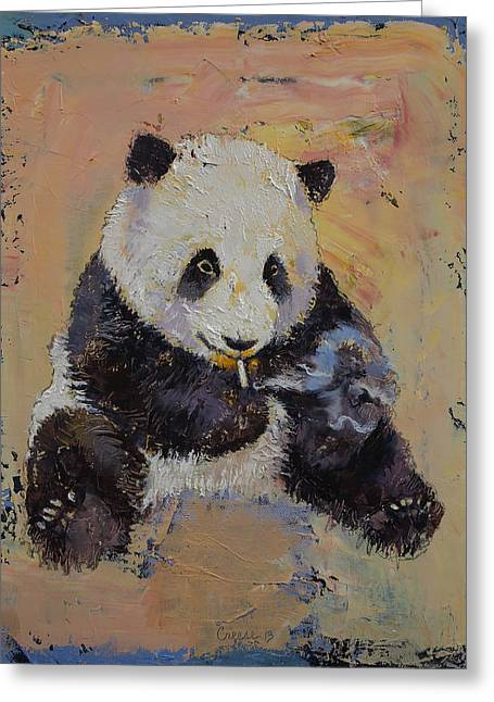 Cigarette Break Greeting Card by Michael Creese