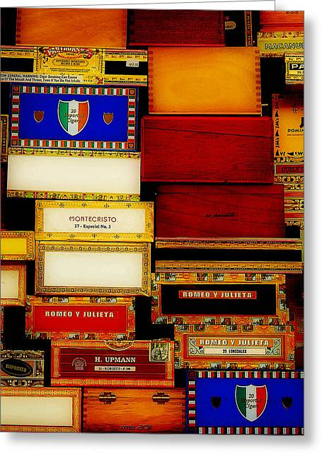Vuelta Greeting Cards - Cigars at Dawn Greeting Card by Robert Schwarztrauber