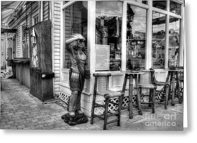 Smoker Greeting Cards - Cigars In Key West BW Greeting Card by Mel Steinhauer