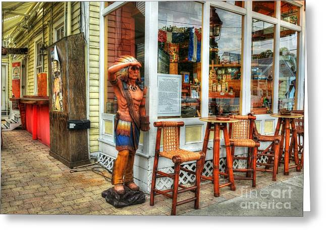 Sign In Florida Photographs Greeting Cards - Cigars In Key West Greeting Card by Mel Steinhauer