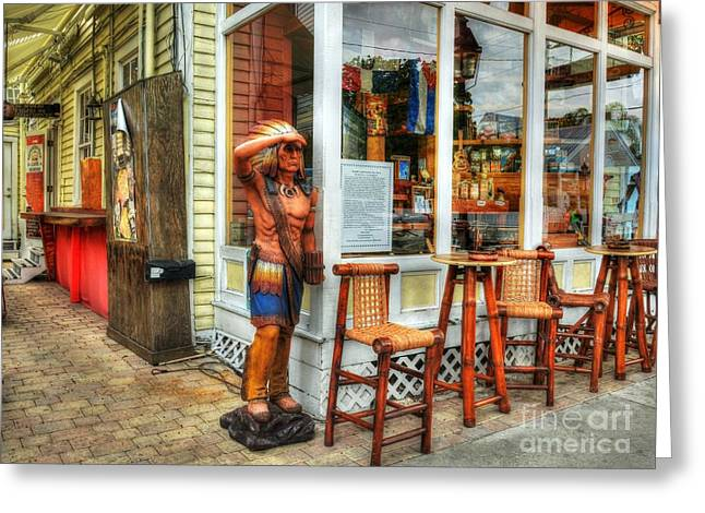 Cigars In Key West Greeting Card by Mel Steinhauer