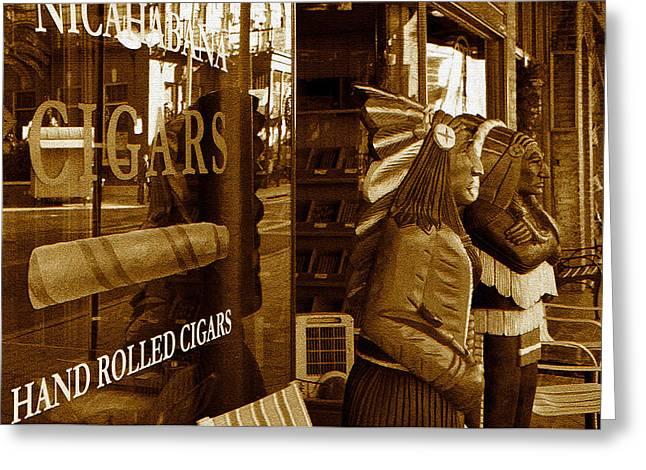 Cigar Digital Greeting Cards - CigarsO Greeting Card by David Lee Thompson