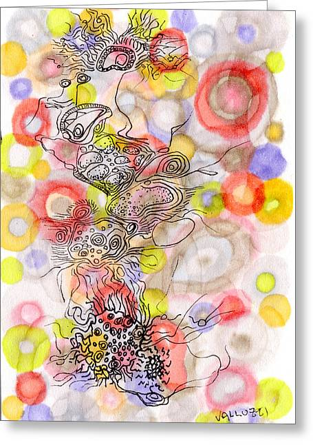 Biological Drawings Greeting Cards - Cilia Celebration Greeting Card by Regina Valluzzi