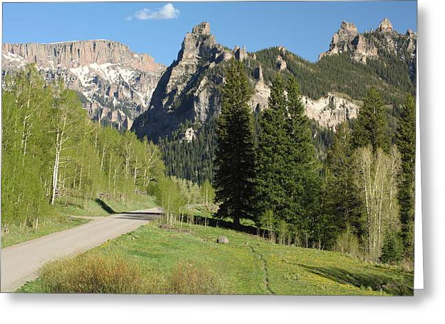 Cimarron Country Greeting Card by Eric Glaser