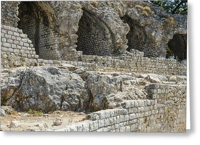 Outdoor Theater Greeting Cards - Cimiez Arenas Roman Ruin in Nice France Greeting Card by Brandon Bourdages