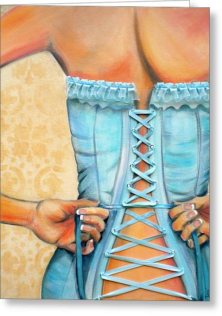 Back View Greeting Cards - Cinched and Beautiful Greeting Card by Debi Starr