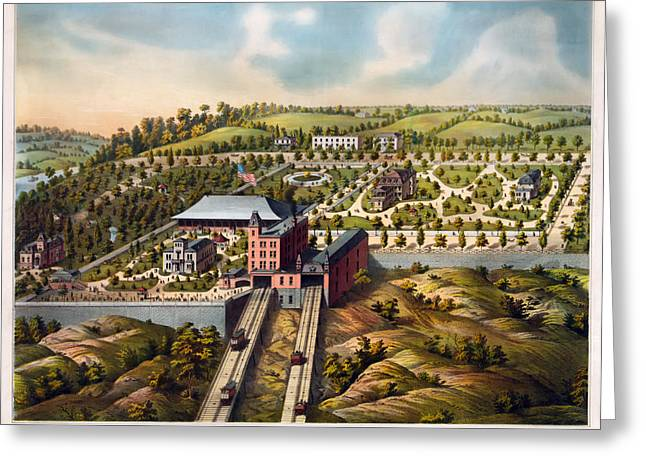 Urban Images Drawings Greeting Cards - Cincinnati 1878 Greeting Card by Mountain Dreams