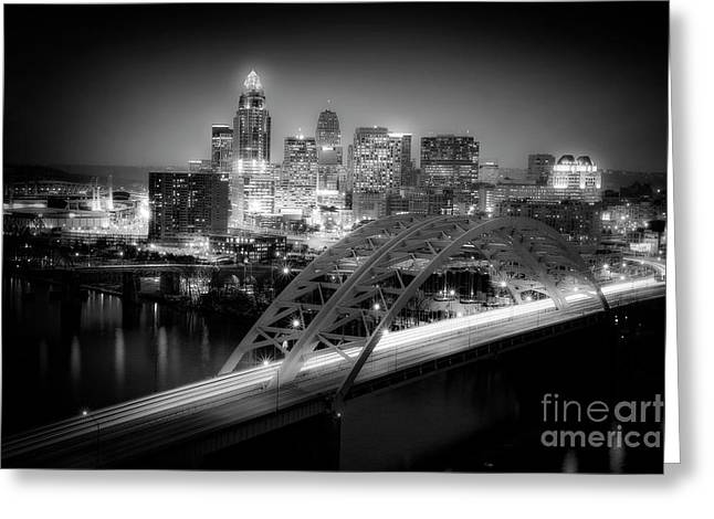 Cincinnati A New Perspective Greeting Card by Kimberly Nickoson