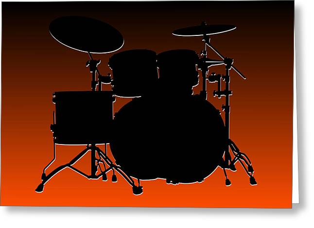 Drum Greeting Cards - Cincinnati Bengals Drum Set Greeting Card by Joe Hamilton