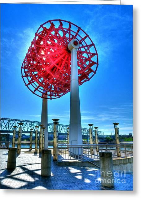 Steamboat Greeting Cards - Cincinnati Big Wheel Greeting Card by Mel Steinhauer