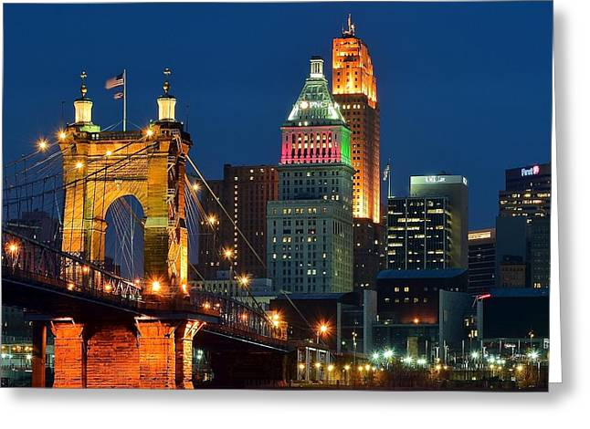 Cincinnati Close Up Greeting Card by Frozen in Time Fine Art Photography