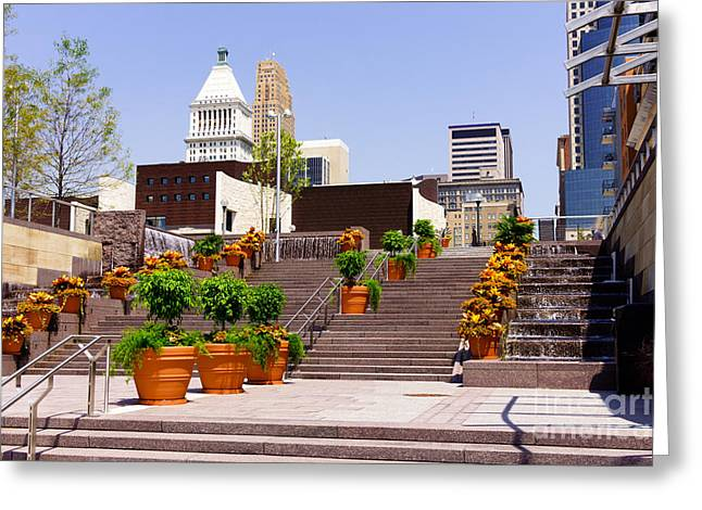 Pnc Greeting Cards - Cincinnati Downtown Central Business District Greeting Card by Paul Velgos