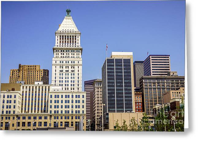 Pnc Greeting Cards - Cincinnati Downtown City Buildings Business District Greeting Card by Paul Velgos