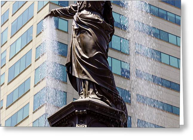 Cincinnati Fountain Genius of Water by Tyler Davidson  Greeting Card by Paul Velgos