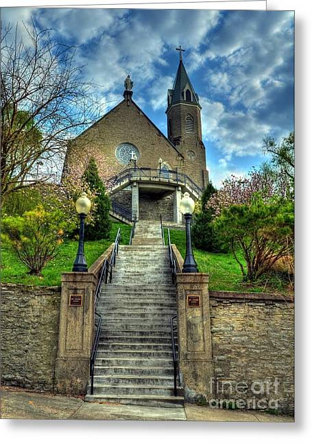 Best Sellers -  - Stepping Stones Greeting Cards - Cincinnati Landmarks 5 Greeting Card by Mel Steinhauer
