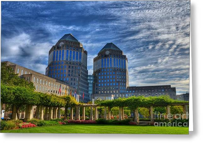 P-g Greeting Cards - Cincinnati Landmarks 6 Greeting Card by Mel Steinhauer