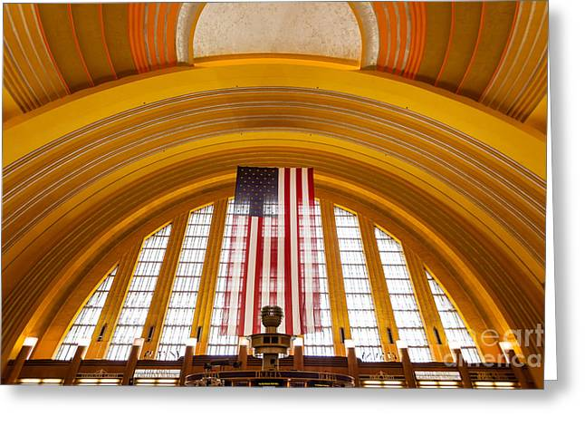 Arch Greeting Cards - Cincinnati Museum Center Interior Photo Greeting Card by Paul Velgos