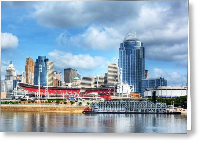 Steamboat Greeting Cards - Cincinnati River Days 2 Greeting Card by Mel Steinhauer