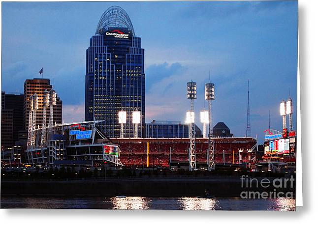 Cincinnati Skyline Greeting Card by Deborah Fay