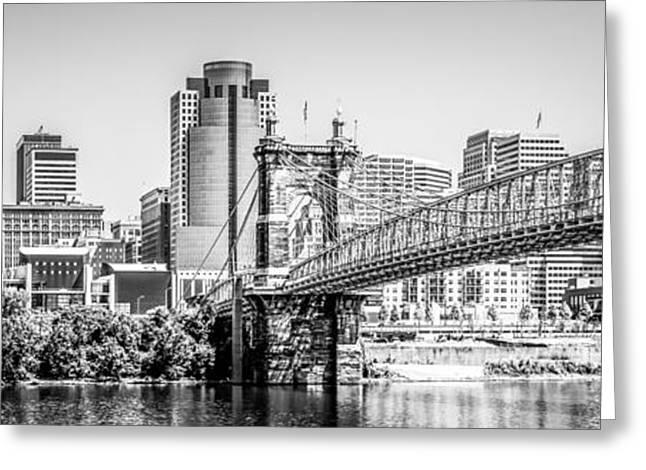 Cincinnati Skyline Panorama Photography Greeting Card by Paul Velgos