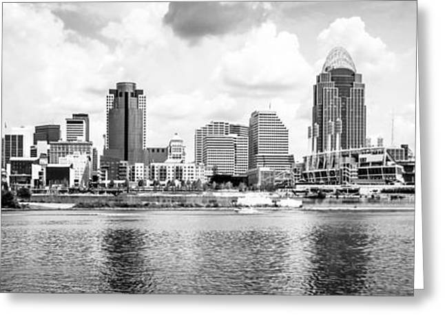 Cincinnati Skyline Panoramic Picture Greeting Card by Paul Velgos