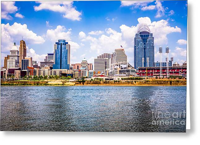 Cincinnati Skyline Photo Greeting Card by Paul Velgos