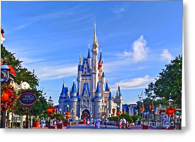 Cinderella Castle Greeting Card by Phil Pantano