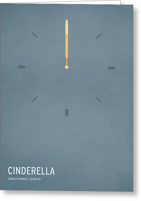 Typography Greeting Cards - Cinderella Greeting Card by Christian Jackson