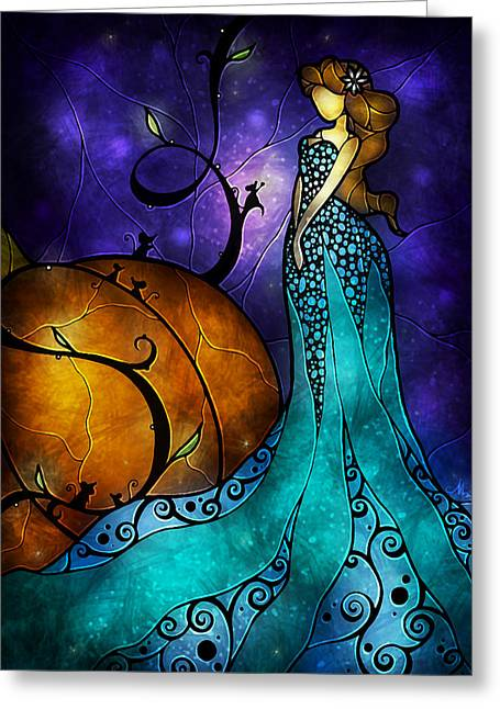 Fairies Greeting Cards - Cinderella Greeting Card by Mandie Manzano
