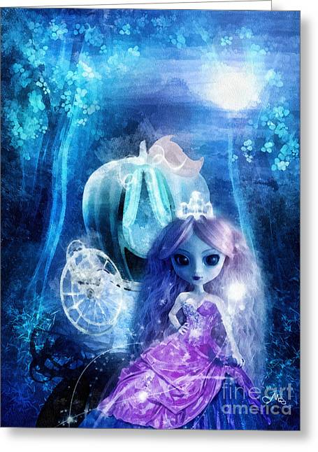 Tiara Greeting Cards - Cinderella Greeting Card by Mo T