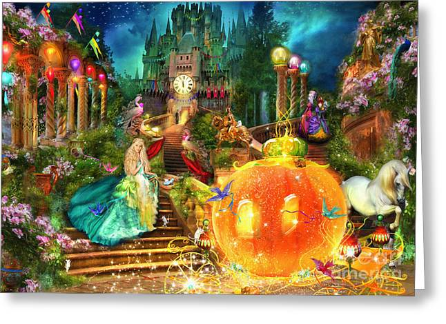 Coach Greeting Cards - Cinderella Variant 1 Greeting Card by Aimee Stewart
