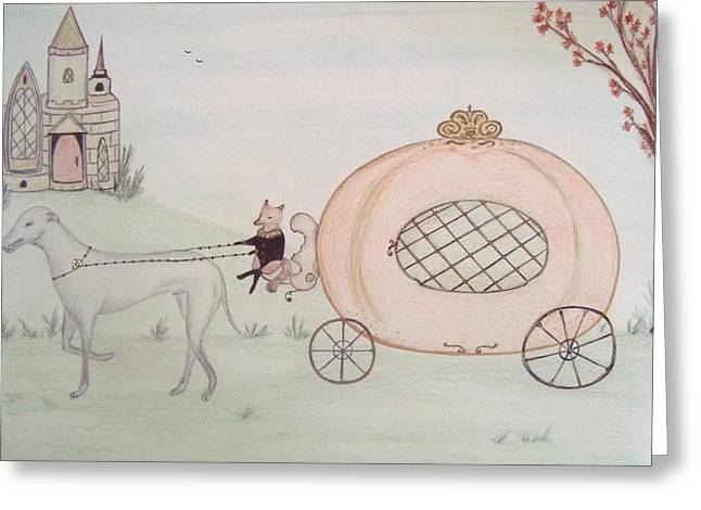 Fairy Pastels Greeting Cards - Cinderellas Carriage Greeting Card by Christine Corretti